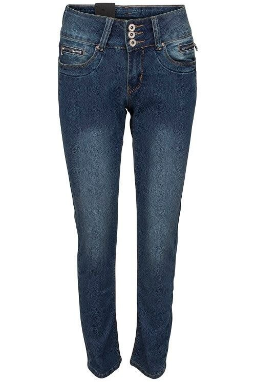Marc Lauge 2878-48 Gussi denim blaa med slid