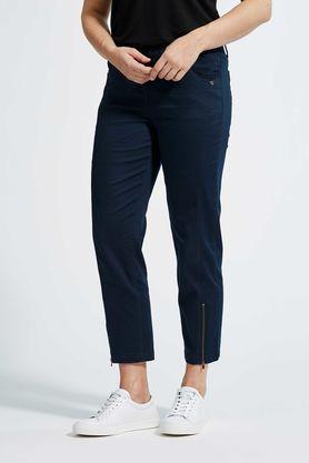 LauRie 22465 7/8 længde buks blå med elastik i linning