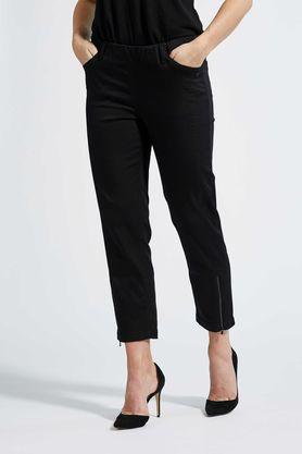 LauRie 22465 7/8 længde buks sort med elastik i linning