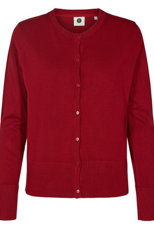 Peppercorn cardigan 4182729 mørk rød