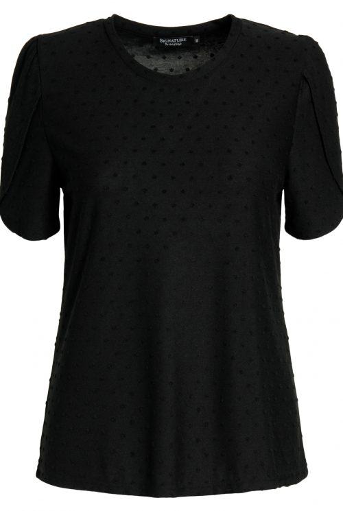 Signature T-shirt 206810 sort