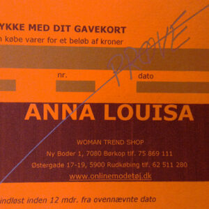 Gavekort kr. 800